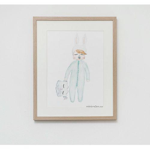 Plakát do dětského pokojíčku Rabbit Cloud