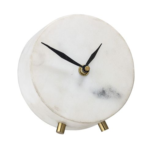 Mramorové hodiny Marble & Gold