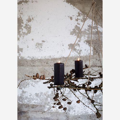 Závěsný adventní svícen Gold Oval Candle Holder