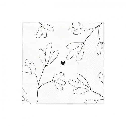 Papírové ubrousky Love Grows Here 20 ks