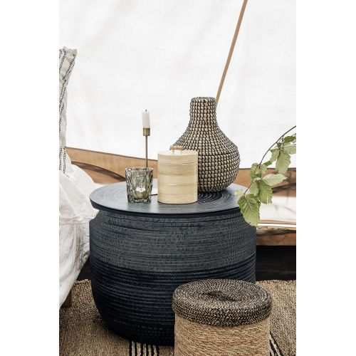 Bambusová dóza s víkem 12x15 cm