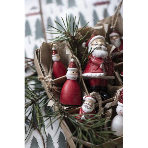 Závěsná ozdoba Santa Claus Glitter 5 cm