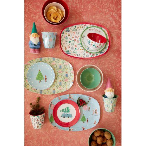Melaminový vánoční talířek All Over Xmas