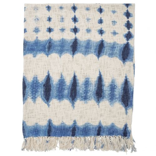 Batikovaný přehoz Blue 160x130 cm