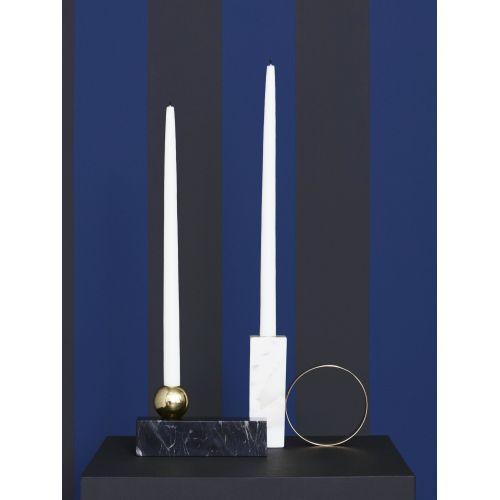 Designový svícen Black Marble & Brass