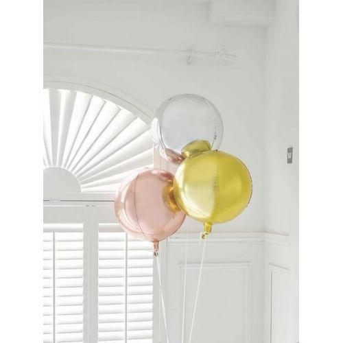 Nafukovací balón Silver ⌀ 38 cm
