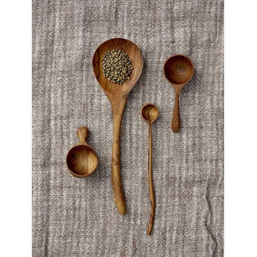Dřevěná odměrka na kávu Brown Teak Spoon