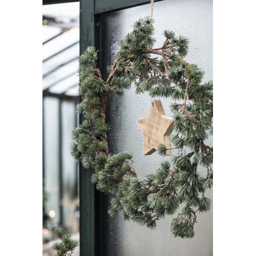 Dřevěná závěsná hvězda Wood 14 cm