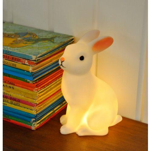 Noční lampička White Bunny
