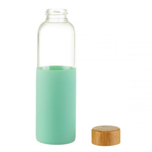 Skleněná lahev na vodu Mint Green 550 ml