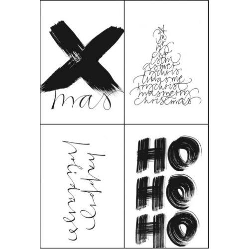Papírové vánoční štítky Xmas