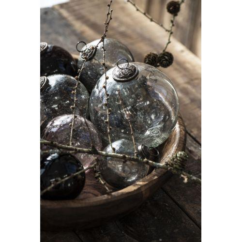 Vánoční baňka Pebbled Glass Clear 9,5cm