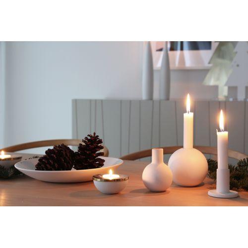 Dřevěný svícen Ball White 10cm