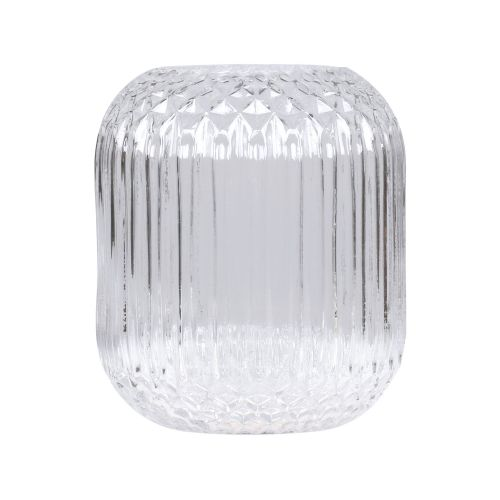 Skleněná váza Checkered Clear 25 cm