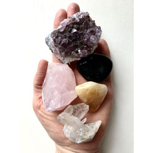 Dárková sada krystalů a minerálů Domov