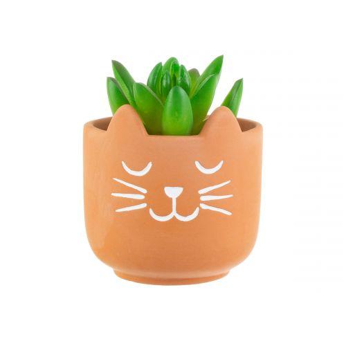 Terakotový obal na květináč Cat's Whiskers Mini