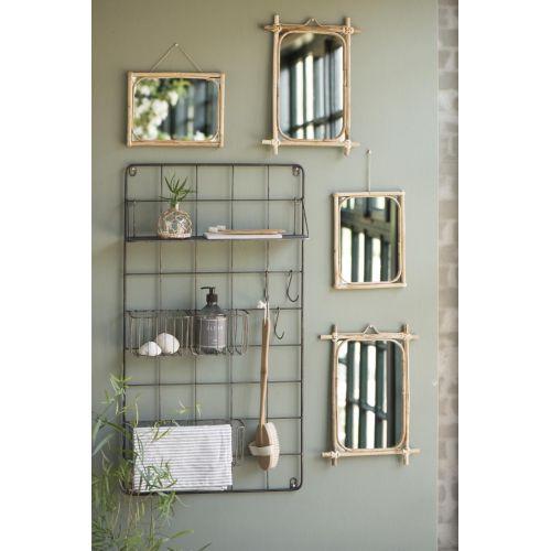 Zrcadlo v bambusovém rámu edge