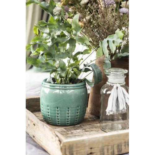 Keramický obal na květináč Pattern Green