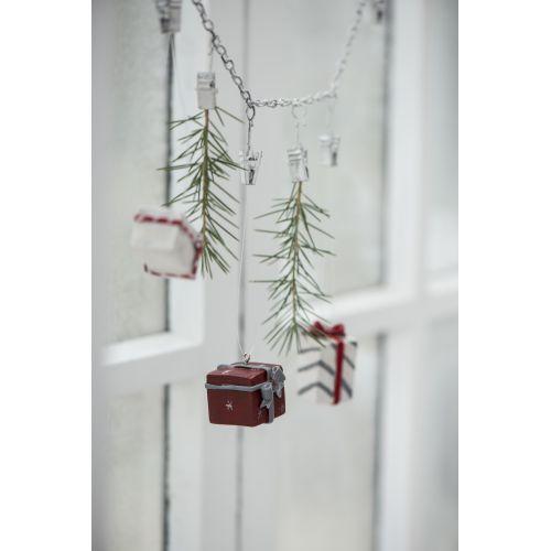 Závěsná vánoční dekorace Gift 3 druhy