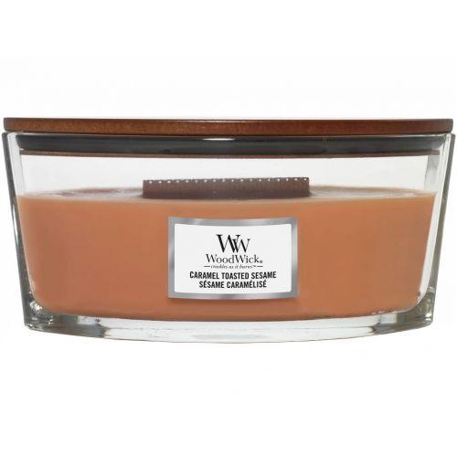 Vonná svíčka WoodWick - Caramel Toasted Sesame 454 g