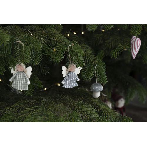 Vánoční textilní ozdoba Christmas Mushrooms