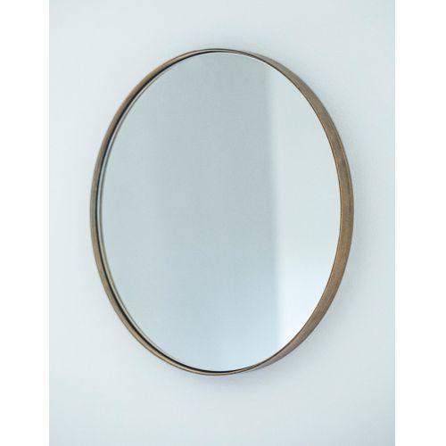 Závěsné zrcadlo Antique Brass Ø40 cm