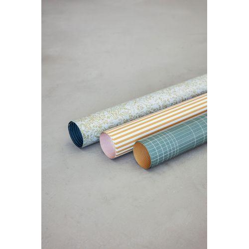 Oboustranný balicí papír Flora - 5 m