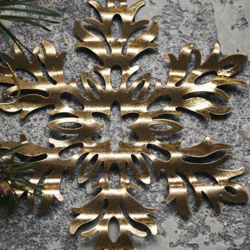 Vánoční dekorace Gold Snowflake