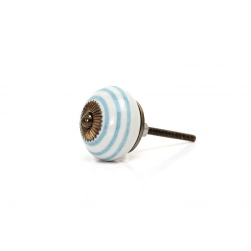 Porcelánová úchytka Blue stripe