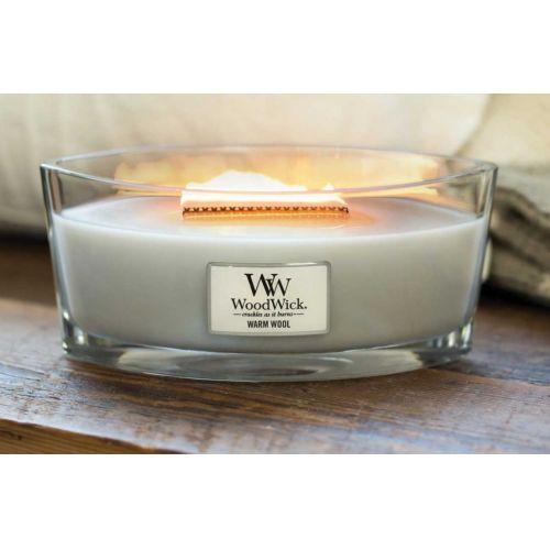 Vonná svíčka WoodWick - Warm Wool 454g