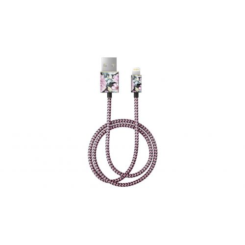Textilní USB kabel na iPhone Peony Garden 1m