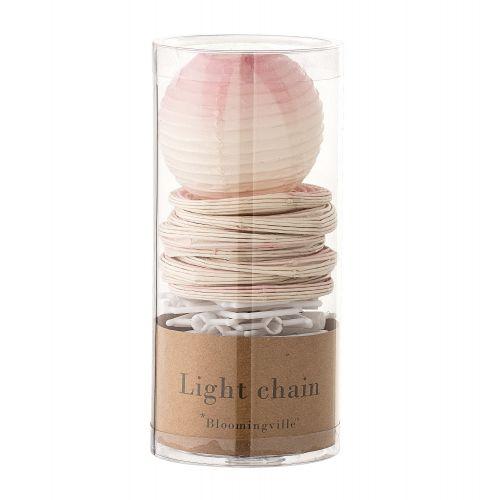 Papírový LED řetěz s lampionky Pinky