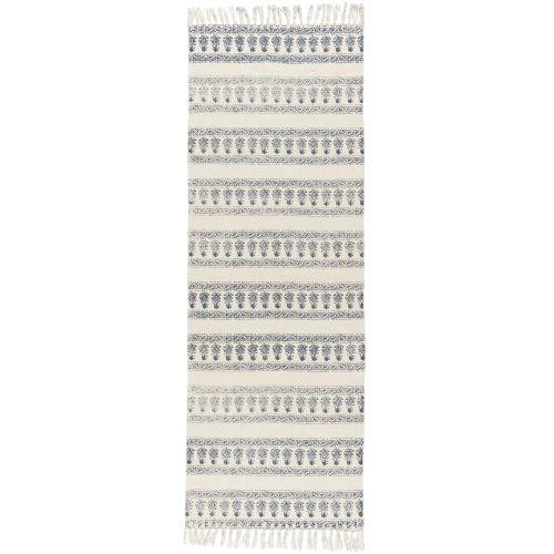 Bavlněný běhoun Blue/white 60x180