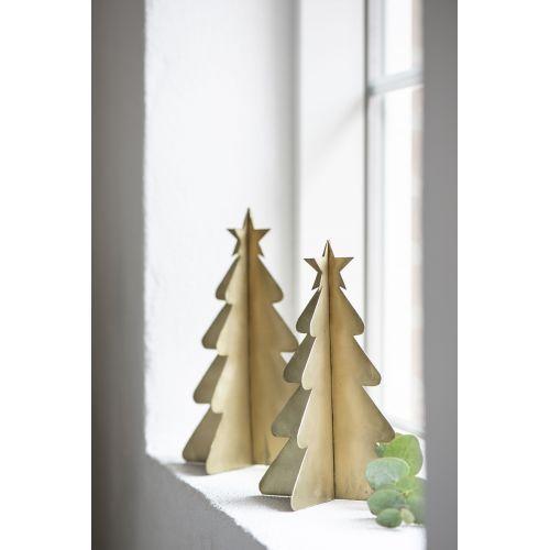 Dekorativní kovový stromeček Brass 21 cm