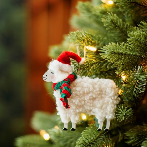 Vánoční ozdoba Sheep Red Hat