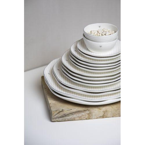 Porcelánový dezertní talíř Black Stripes 19cm