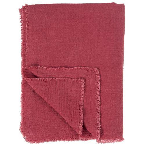 Bavlněný přehoz Weaving Pink