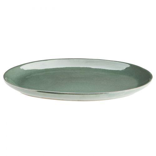 Oválný kameninový talíř Sea Green