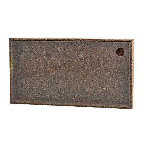 Úložný box s plexi víčkem Dark Cork - větší