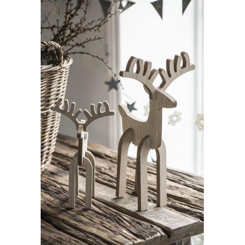 Dřevěný sob Rudolph 26cm