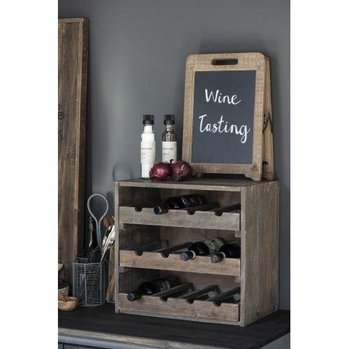 Dřevěný stojan na víno Wood