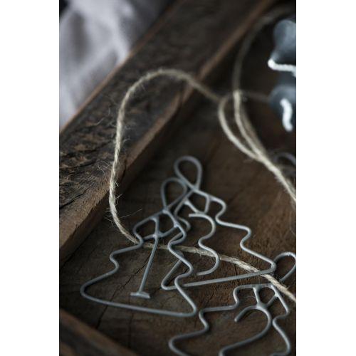 Kovové štítky na adventní dekorace Trees Grey 1-4