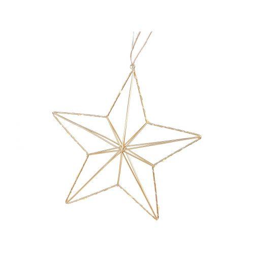 Závěsná svítící hvězda Star Gold 25 cm