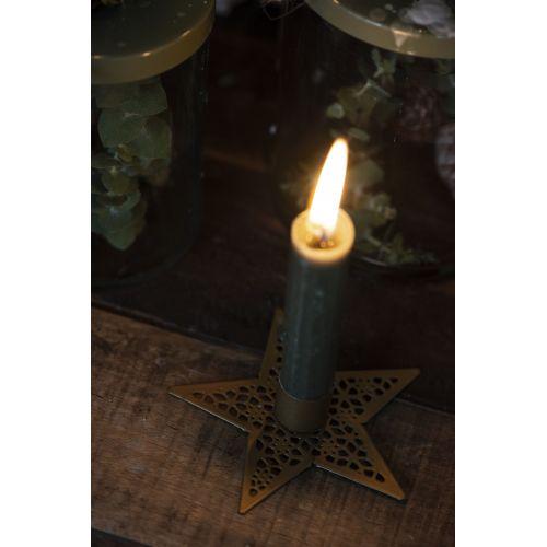 Kovový svícen Star Gold 11 cm