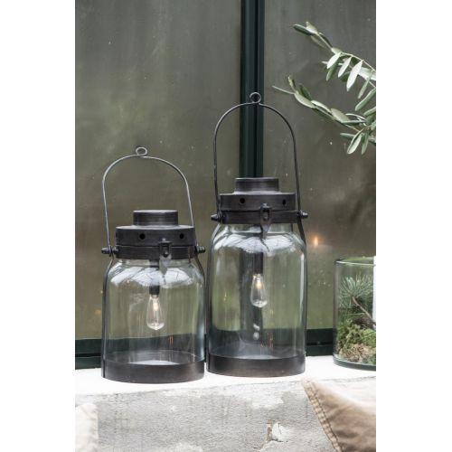 Kovová lucerna Lantern Black 32 cm