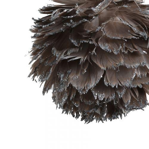 Závěsná dekorace Plume gris - větší