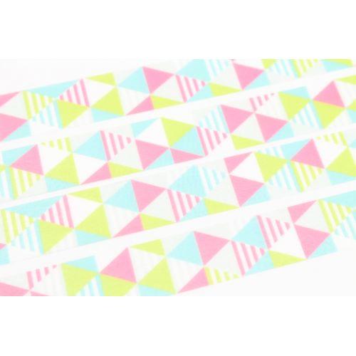 Designová samolepicí páska Shimasankaku pink