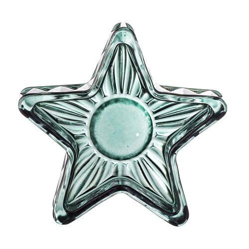 Skleněný svícen Green Glass