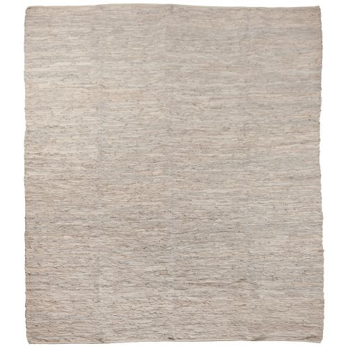 Kožený koberec Light Grey 250x300 cm