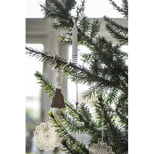 Porcelánový zvoneček Nature Brown/White